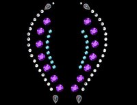 Fantasy Mauve Self Adhesive Stick-on Rhinestone Eye Jewelry