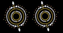 Pair of 'Mystique' Self Adhesive Stick-on Rhinestone Pasties/Belly Jewels