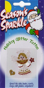 Angel Holiday Glitter and Crystal Tattoo