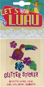 Tucan Bird Tropical Luau Glitter Tattoo