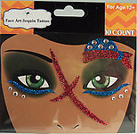 Rhinestone & Glitter Red, White & Blue Pirate Face Art Kit