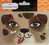 Rhinestone & Glitter Puppy Dog Face Art Kit