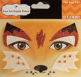 Rhinestone & Glitter Fox Face Art Kit