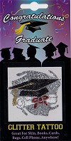 Diploma and Graduation Hat Glitter Tattoo