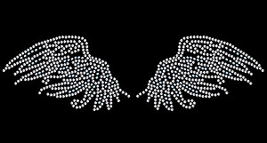 Angel Wings Self Adhesive Stick-on Rhinestone Body Art