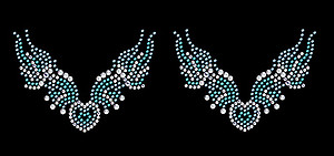 Native Wings Self Adhesive Stick-on Rhinestone Body Art