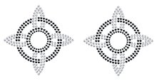 Pair of 'Desire' Self Adhesive Stick-on Rhinestone Pasties/Belly Jewels