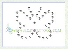 Swarovski Clear Rounded Butterfly Crystal Body Tattoo