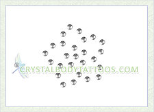 Swarovski Clear Rounded Flower Crystal Body Tattoo