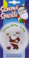 Santa Claus Holiday Glitter and Crystal Tattoo
